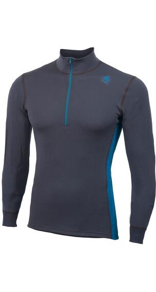 Aclima M's WarmWool Mock Neck Shirt Periscope/Blue Sapphire
